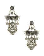 Oxidised Finish Fancy Navratri Earrings For Girls