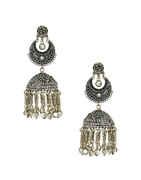 Oxidized Silver Finish Jhoomka Earrings Fancy