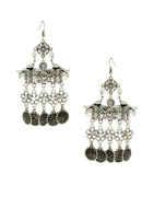 Floral Design Oxidised Finish Garbha Navratri Earrings For Girls