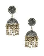Fancy Oxidised Finish Fancy Jhumkaa Earrings For Girls