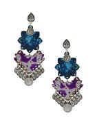 Fancy Oxidise Wooden Garbha Earrings For Girls