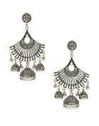 Beautiful Oxidised Finish Garba Navratri Earrings For Girls