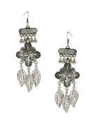 Leafy Design Oxidised Finish Earrings For Garbha