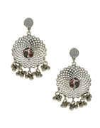 Unique Design Silver Finish Trendy Navratri Earrings Jewellery