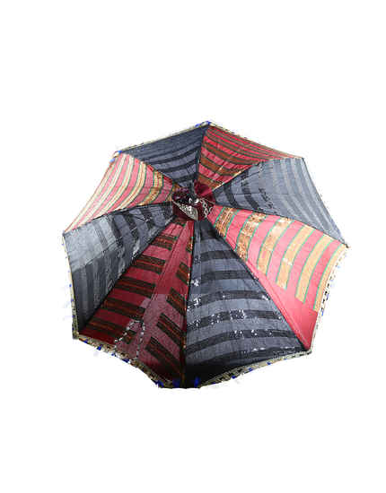 Red-Black Combination Fancy Umbrella For Navaratri Festival