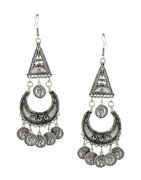 Fancy Oxidised Silver Finish Long Necklace Jewellery For Garba