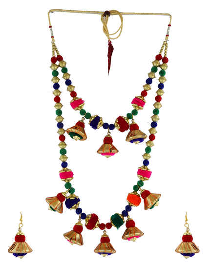 Multi Colour Fancy Dandiya Necklace Jewellery