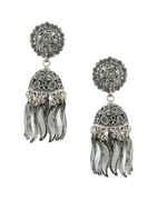 Adorable Oxidised Silver Finish Zumkaa Earrings For Women