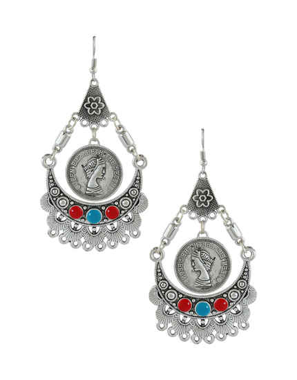 Very Classy Oxidized Silver Finish Earring Trendy