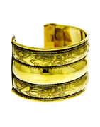 Gold Finish Kada Bracelets For Girls Navratri Wear