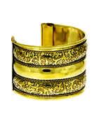 Floral Design Fancy Gold Finish Wrist Bracelets For Dandiya
