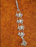 Floral Design Silver Finish Challa For Navratri