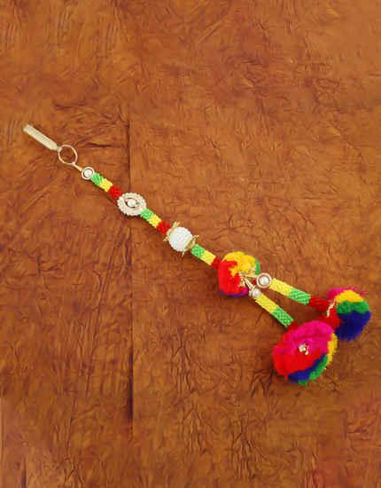 Multi Colour Gold Finish Thread Navratri Jewellery