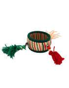 Multi Colour Thread Pompom Bangles For Dandiya