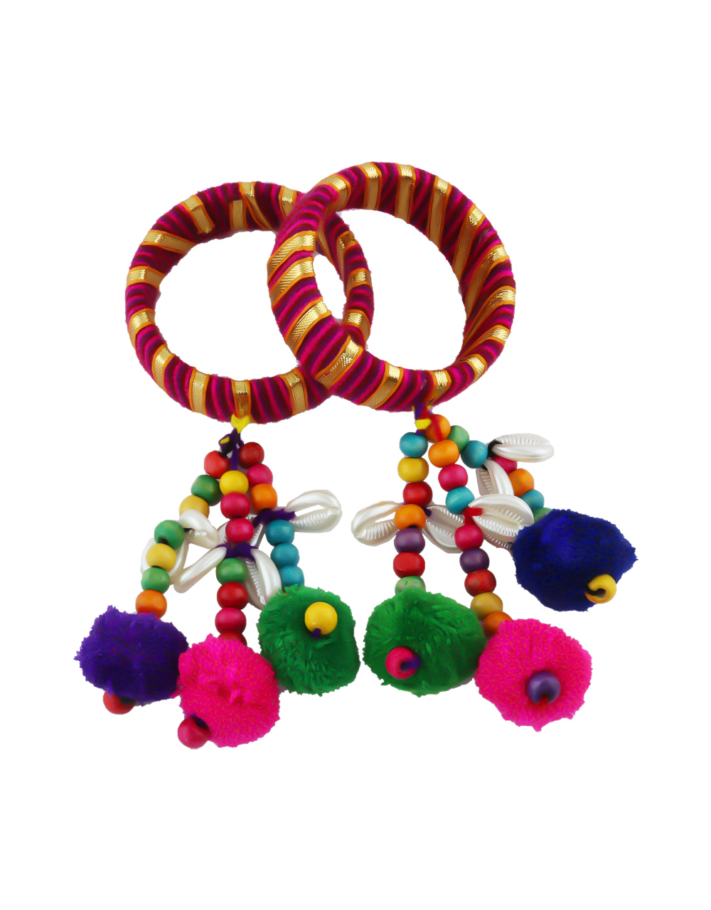 Multi Colour Kada Styled With Beads Fancy Bangles