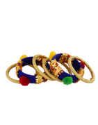Fancy Blue Colour Bangles Jewellery Set For Navratri
