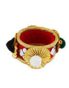 Red Colour Fancy Styled With Mirror Bangles