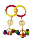 Red-Yellow Colour Thread Hand Bangles Jewellery