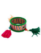 Green Colour Fancy Dandiya Bangles Jewellery For Girls Dandiya