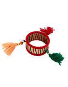 Red Colour Thread Navratri Jewellery Bangles