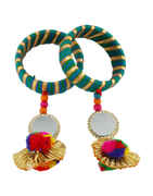 Green Colour Fancy Navratri Jewellery Bangles