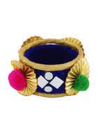 Blue Colour Bangles Set For Girls Navratri Jewellery