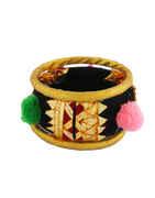 Black Colour Thread Bangles Jewellery For Dandiya