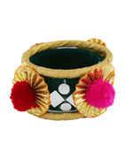 Green Colour Bangles Jewellery For Navratri Dandiya