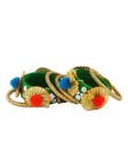 Fancy Green Colour Pom Pom Hand Bangles