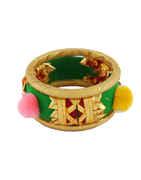 Designer Green Colour Dandiya Jewellery Set