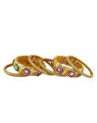 Orange Colour Fancy Navratri Bangles Jewellery