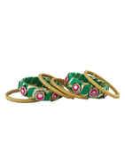 Green Colour Fancy Dandiya Navratri Jewellery For Girls