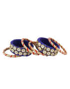 Blue Colour Fancy Navratri Jewellery Kada For Girls