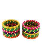 Fancy Multi Colour Navratri Bangles Jewellery