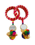 Pink Colour Bangles Styled With Beads Trendy Bangles