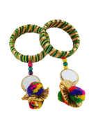 Green Colour Thread Navratri Bangles Jewellery