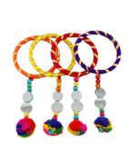 Multi Colour Bangles Styled With Glass Stone Navratri Bangles