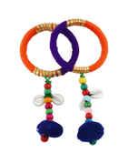 Blue-Orange Colour Dandiya Navratri Jewellery