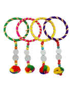 Multi Colour Bangles Styled With Glass Stones Bangles