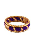 Purple Colour Simple Fancy Dandiya Bangles