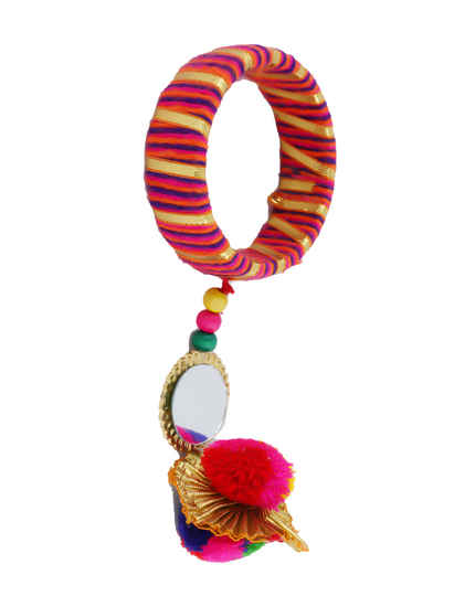 Pink Colour Stylish Bangles Jewellery For Girls