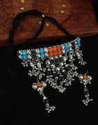 Orange-Blue Combination Chokar Navratri Necklace
