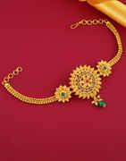 Multi Colour Gold Finish Floral Design Fancy Bajuband