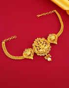 Fashionable Gold Finish South Indian Bajuband Jewellery