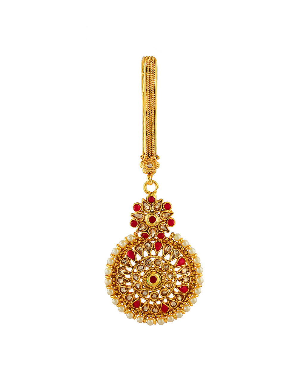 Red Colour Floral Design Traditional Challa For Women