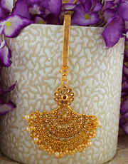 Very Classy Designer Gold Finish Challa For Fancy Wear