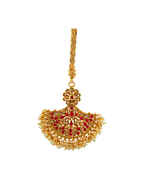 Red Colour Gold Finish Traditional Challa For Women