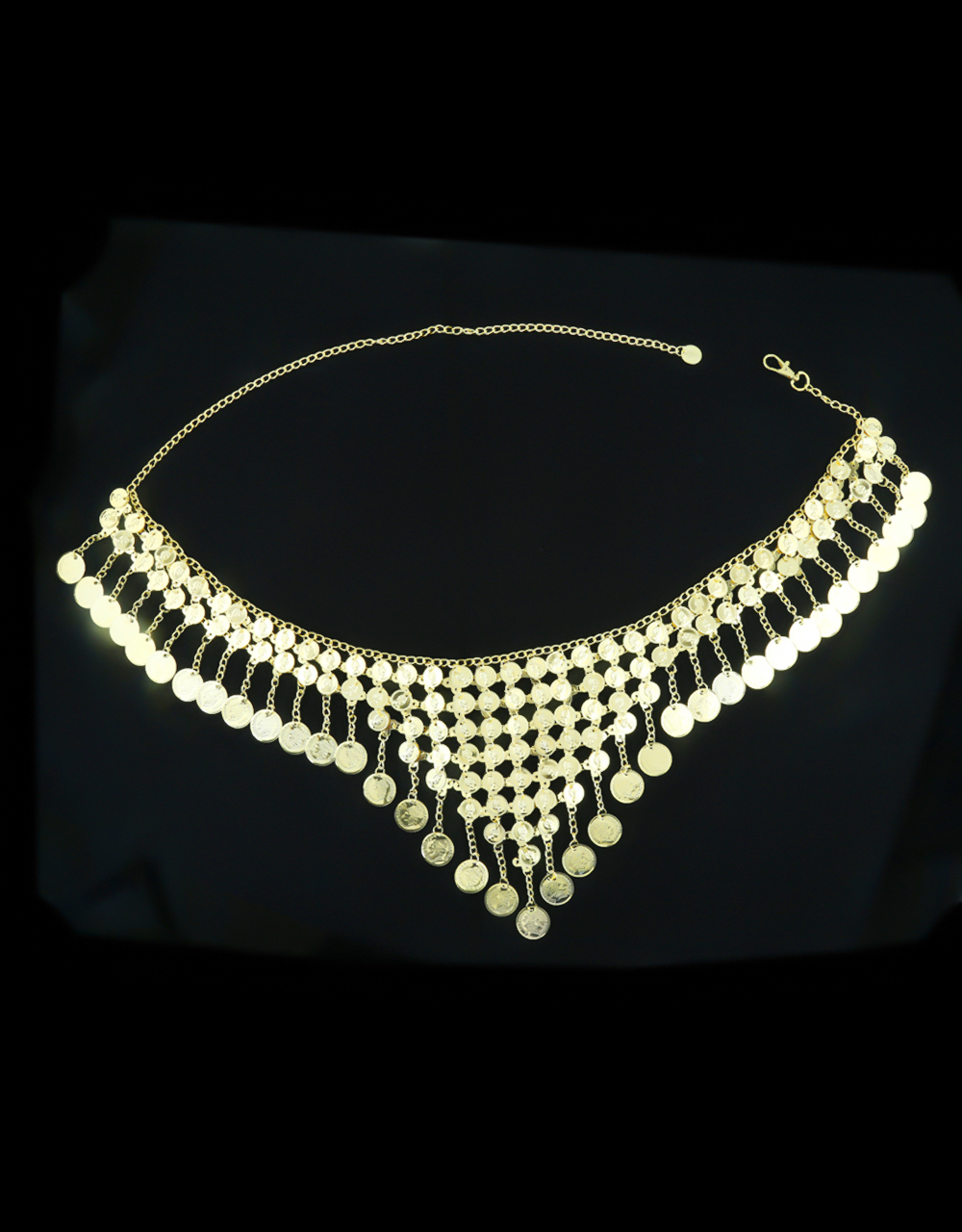 Gold Finish Designer Stylish Navratri Kamarpatta