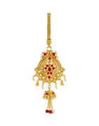 Peacock Design Gold Finish Fancy Kamarchalla For Women