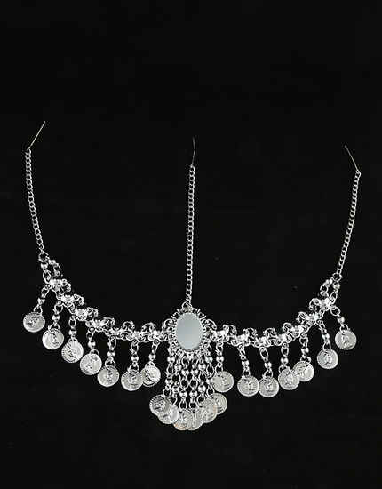 Silver Finish Styled With Coin Fancy Matha Patti